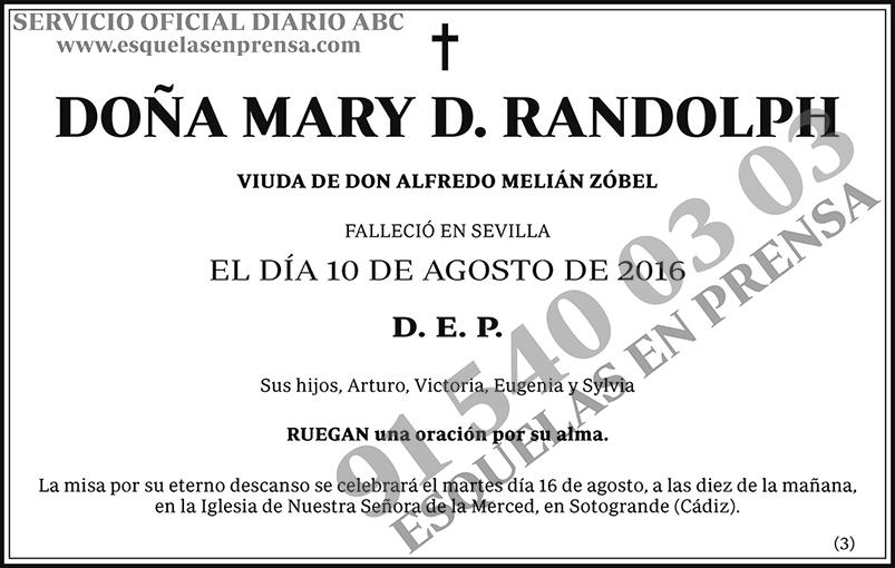 Mary D. Randolph